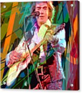 Neil Diamond Hot August Night Acrylic Print by David Lloyd Glover