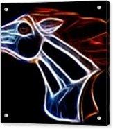 Neon Bronco II Acrylic Print by Shane Bechler