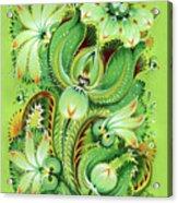 Neptunes Flowers Acrylic Print by Olena Kulyk
