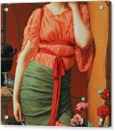 Nerissa Acrylic Print by John William Godward