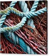Nets And Knots Number Six Acrylic Print by Elena Nosyreva