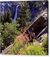Nevada Falls Yosemite National Park Acrylic Print by Alan Lenk