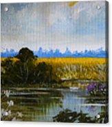 New Jersey Marsh Acrylic Print by Karon Melillo DeVega
