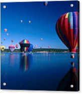 New Mexico Hot Air Balloons Acrylic Print by Jerry McElroy