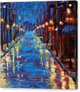 New Orleans Bourbon Street Acrylic Print by Debra Hurd
