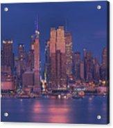 New York City Acrylic Print by Kirit Prajapati
