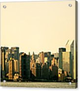 New York City Skyline Panorama Acrylic Print by Vivienne Gucwa