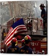 New York Firefighters And Salt Lake Acrylic Print by Everett