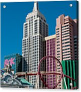 New York New York Hotel Acrylic Print by Andy Smy