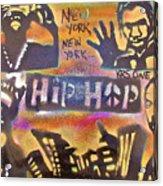 New York New York Acrylic Print by Tony B Conscious