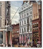 New York Stock Exchange In 1882 Acrylic Print by Everett