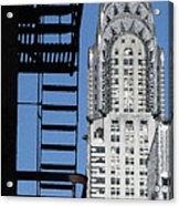 New York Watercolor 3 Acrylic Print by Andrew Fare