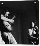 Nhop And Philip Catherine On Stage Acrylic Print by Philippe Taka