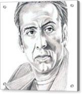 Nicolas Cage Acrylic Print by Murphy Elliott