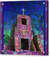 Night Magic San Miguel Mission Acrylic Print by Kurt Van Wagner