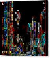 Night On The Town - Digital Art Acrylic Print by Carol Groenen