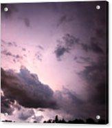 Night Storm Acrylic Print by Amanda Barcon