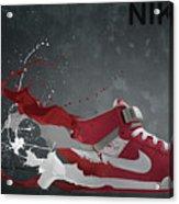 Nike Id Acrylic Print by Tom  Layland