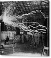 Nikola Tesla 1856-1943 Created A Double Acrylic Print by Everett