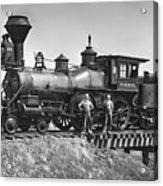 No. 120 Early Railroad Locomotive Acrylic Print by Daniel Hagerman