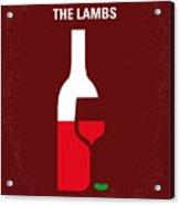 No078 My Silence Of The Lamb Minimal Movie Poster Acrylic Print by Chungkong Art