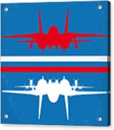 No128 My Top Gun Minimal Movie Poster Acrylic Print by Chungkong Art