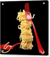 Noodles-pasta Acrylic Print by Manfred Lutzius
