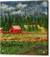 North Idaho Farm Acrylic Print by David Patterson