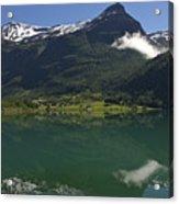 Norway, Briksdal Glacier At Jostedal Acrylic Print by Keenpress