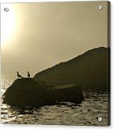 Norway, Tromso, Silhouette Of Pair Acrylic Print by Keenpress