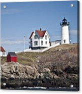 Nubble Lighthouse Acrylic Print by Thomas  Jarvais