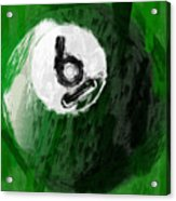 Number Six Billiards Ball Abstract Acrylic Print by David G Paul