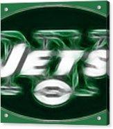 Ny Jets Fantasy Acrylic Print by Paul Ward