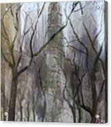 Nyc Central Park 1995 Acrylic Print by Ylli Haruni