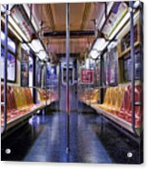 Nyc Subway Acrylic Print by Kelley King