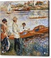 Oarsmen At Chatou Acrylic Print by Pierre Auguste Renoir