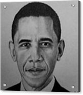 Obama Acrylic Print by Carlos Velasquez Art