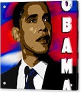 Obama Acrylic Print by John Keaton