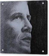 Obama Acrylic Print by Lise PICHE