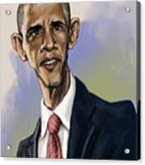 Obama Acrylic Print by Tyler Auman