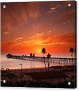 Oceanside Sunset 9 Acrylic Print by Larry Marshall