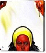 Ochun -the Goddess Of Love And Beauty  Acrylic Print by Carmen Cordova