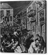 October 31, 1880 Anti-chinese Riot Acrylic Print by Everett