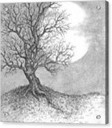 October Moon Acrylic Print by Adam Zebediah Joseph