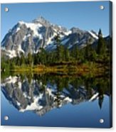 October Reflection Acrylic Print by Winston Rockwell