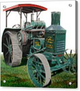 Oil Pull Tractor Acrylic Print by Ferrel Cordle