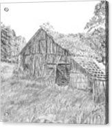 Old Barn 3 Acrylic Print by Barry Jones