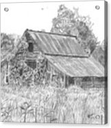 Old Barn 4 Acrylic Print by Barry Jones