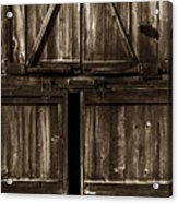 Old Barn Door - Toned Acrylic Print by Paul W Faust -  Impressions of Light