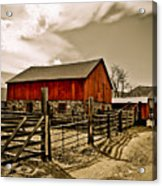 Old Country Farm Acrylic Print by Marilyn Hunt